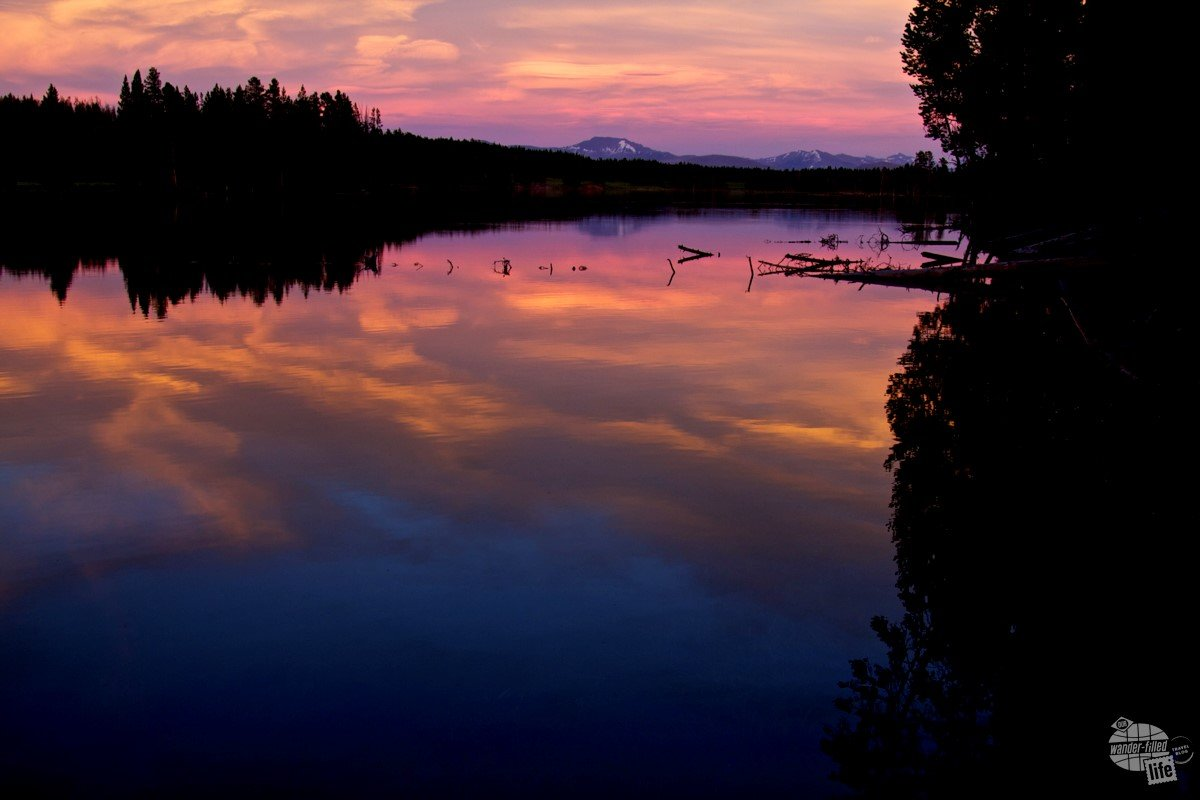 Sunset in Yellowstone National Park // Copyright by Wander-Filled Life // Used with permission.