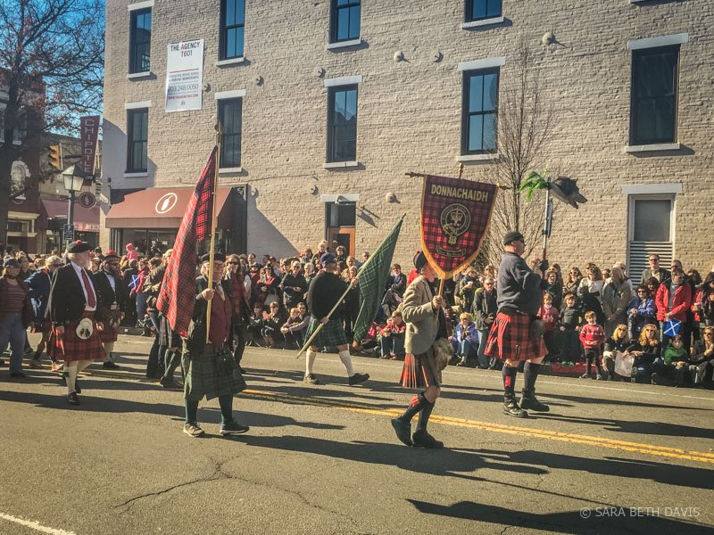 Scottish Christmas Walk Parade Alexandria Virginia